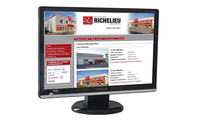 Commercial real estate management web site