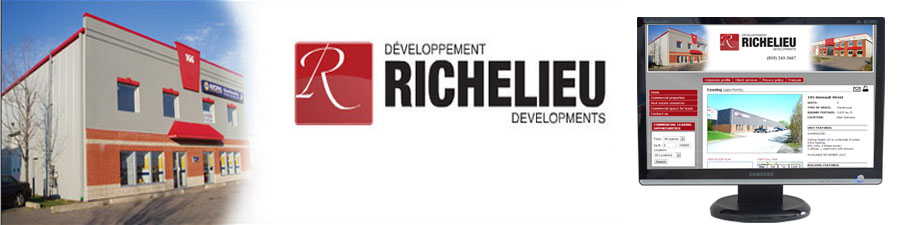 Richelieu commercial real estate web site