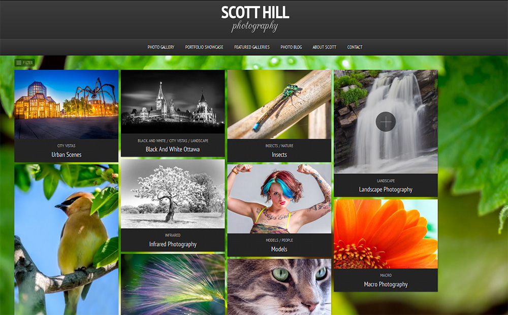 Scott Hill Photography web site
