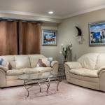 Living room curtains closed by Interkey Solutions